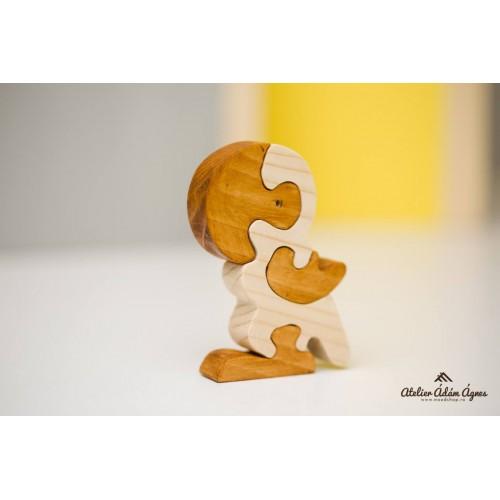 Papagal puzzle din lemn