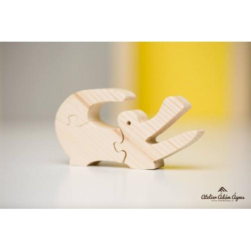 Crocodil puzzle din lemn