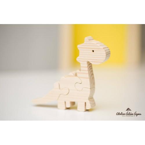 Dinozaur puzzle din lemn