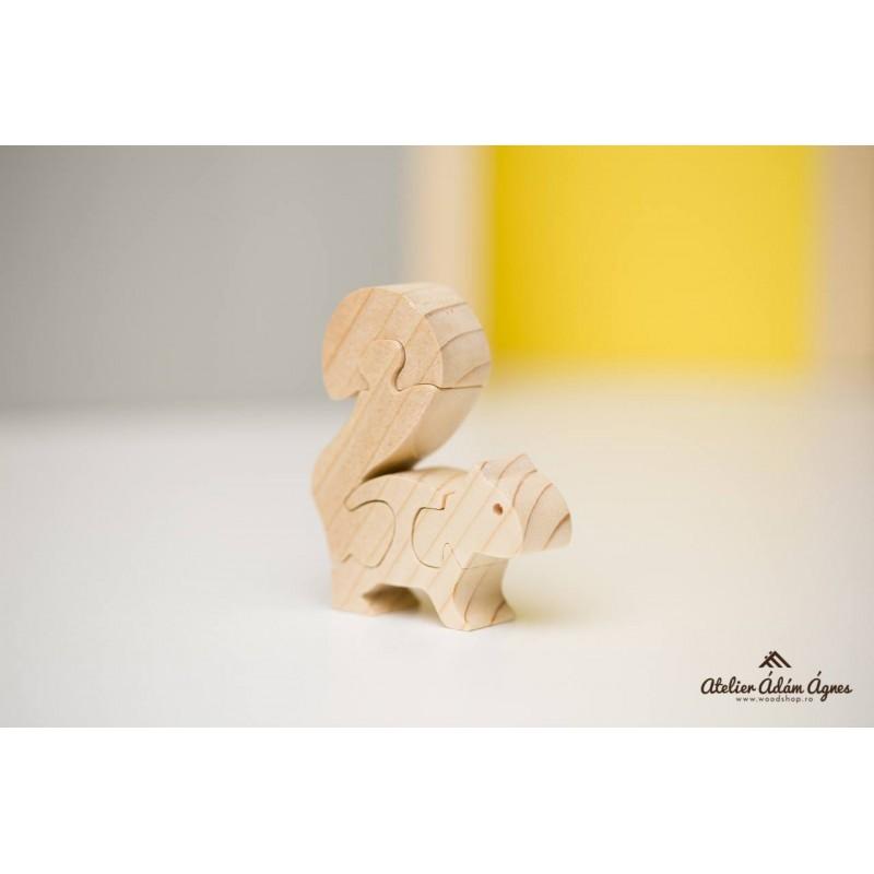 Veveriță puzzle din lemn