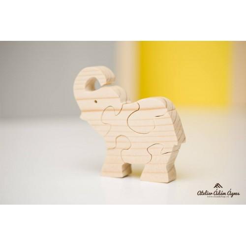 Elefant puzzle din lemn