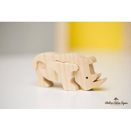 Rinocer puzzle din lemn