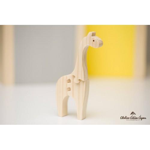Girafă puzzle din lemn