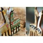 Insignă lemn handpainted
